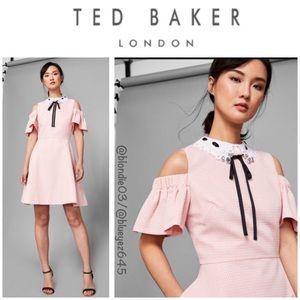 """Ted Baker """"Araye"""" cold shoulder dress 1 (US 4) NWT"""